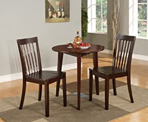 Kings Brand 30 Round Cherry Finish Wood Dining Room Kitchen Table S