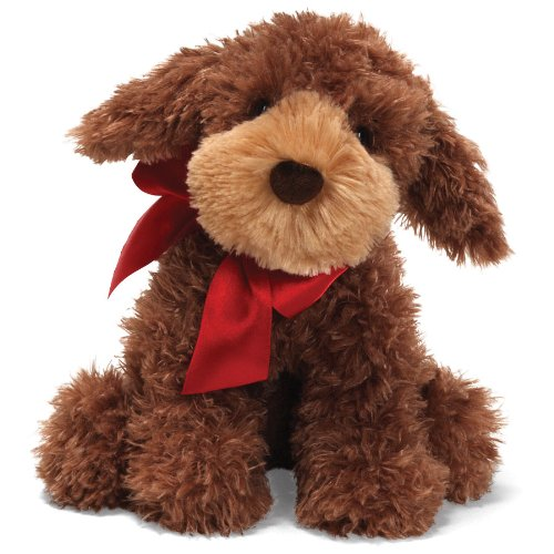 Gund - Designer Pup with Christmas Ribbon - Casy the Poogle - 10