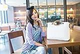 TGLOE Woman Handbag 2014 Korean New Version Fashion Embossing (White)