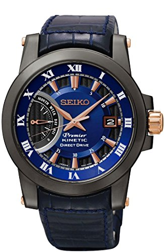 Seiko Premier Mens Wristwatch With Kinetic Movement