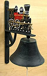 Cast Iron Painted Train Bell