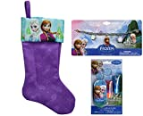 Disney Frozen Christmas Stocking with Charm Bracelet and Lip Gloss Set with Mini Tin Carrying Case Stocking Stuffers