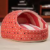AWHAO ベッド ペット用 小型犬  猫 洗える ドーム型 ペット用ベッド 冬マット 夏マット 小型犬 3サイズ