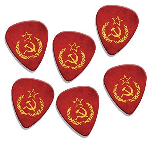 soviet-union-hammer-sickle-flag-6-x-logo-guitare-mediators-picks-gd