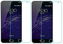 Pack Of 2 - Trenzo (Hie-Power) HD Clear Tempered Glass Screen Guard Protector for Meizu M3 note