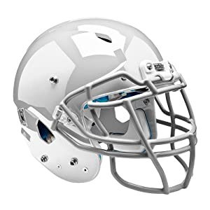 Schutt Sports Youth Vengeance DCT Hybrid Football Helmet without Faceguard, Large, White