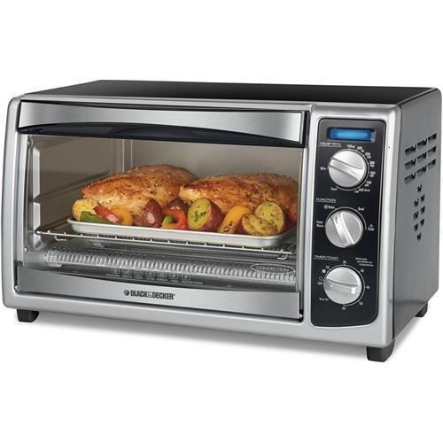 Applica Black & Decker To1675B 6-Slice Toaster Oven, Stainless Steel, Black (Applicato1675B )