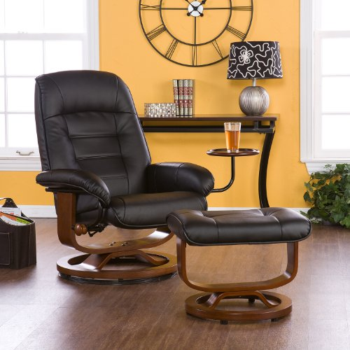Swivel Recliner With Ottoman front-421172