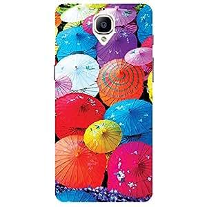 Multicolour Umbrella - Mobile Back Case Cover For One Plus 3