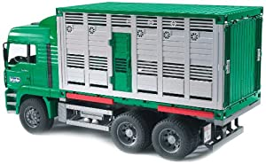 Bruder Toys MAN Cattle transportation truck incl. 1 cow at Sears.com