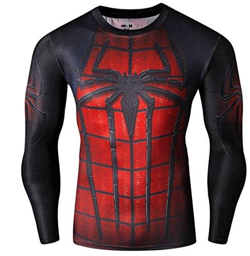 Madhero - Maglietta sportiva -  uomo Black Spider Man X-Large