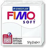 Staedtler Fimo Soft Modelliermasse, ofenhärtend, 8020-10 Ofen, 56 g weiß