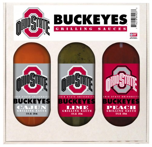 Ohio State Buckeyes NCAA Grilling Gift Set (12oz Cajun, 12oz Lime, 12oz Peach) at Amazon.com