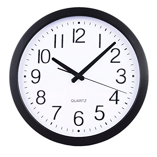 "HomeFlav 11.75"" Non-ticking Silent Quartz Wall Clock - digital, modern,vintage,large,decorative, contemporary,kitchen wall clock"