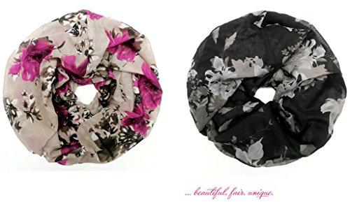 accessu-Echarpe-Foulard-pour-Femme-Floral-Color-Gradient-Print