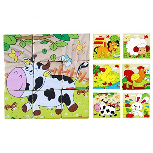 Tonsee-Wooden-Cute-Panda-Educational-Developmental-6-sided-puzzle-Toy-1