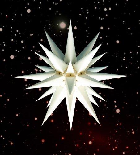 Weihnachtsstern, Adventsstern, original Herrnhut, für Außen, Kunststoff, 68 cm, mit Beleuchtung, Stern, Sterne, Weihnachtssterne, Adventssterne, original Herrnhuter Stern, weiß