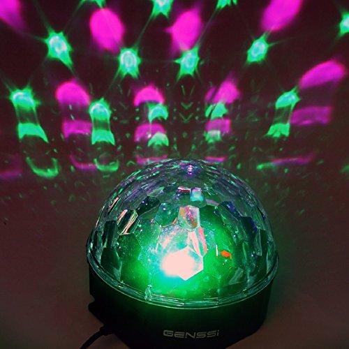 12W Rgb Led Mp3 Dj Club Pub Disco Party Crystal Magic Ball Stage Effect Light Us Plug