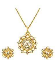 ILINA Golden Alloy Stud Jewellery Set For Women - B00Y8JJ5SC