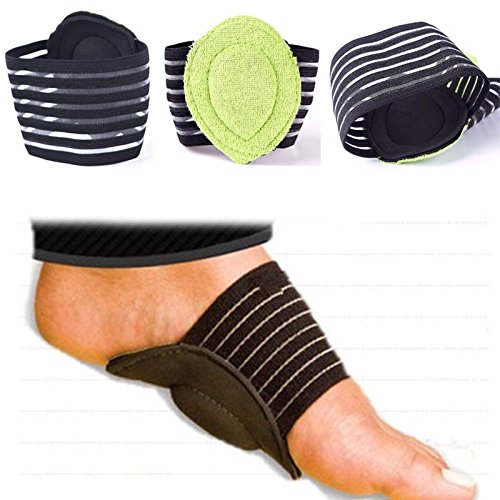 KeyZone New 2pcs Cushioned Arch Supports Relief for Achy Feet Foot Health Tips