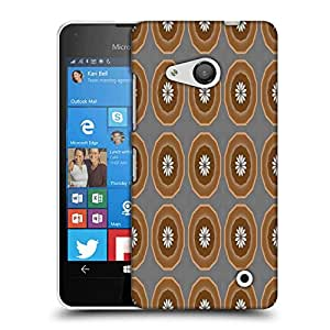 Snoogg Abstract Brown Circles Designer Protective Phone Back Case Cover For Nokia Lumia 550