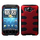 Red/Black Fishbone Design Hybrid Hard/Gel Phone Cover Protector Case for HT ....