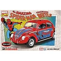 Polar Lights 927 The Amazing Spider Man Volkswagen Beetle 1/24 Scale Model Kit Snap It