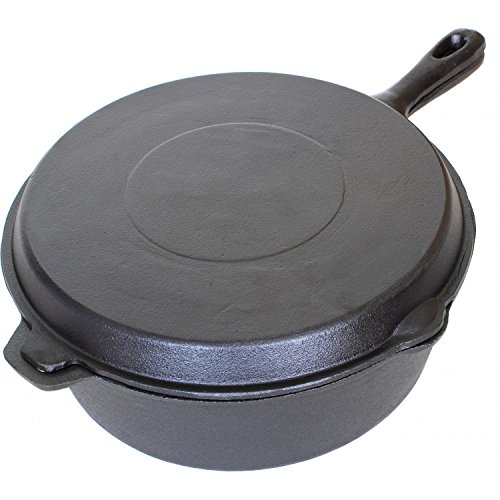 Cajun Cookware 6-quart Seasoned Cast Iron Combo Cooker - Gl10495ds (Dutch Combo Cooker compare prices)