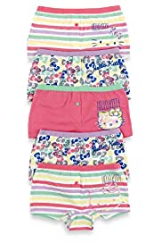 5 Pack Hello Kitty Pure Cotton Assorted Boxers