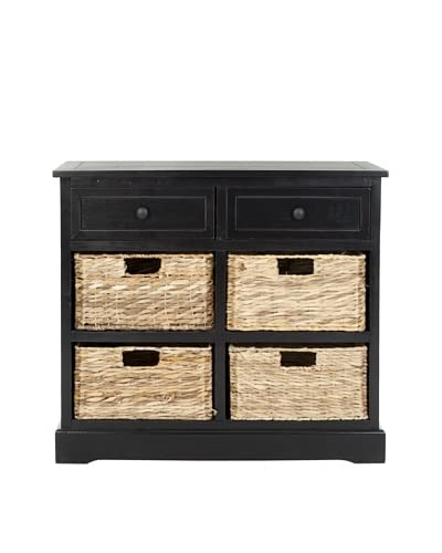 Safavieh Herman Storage Unit, Distressed Black