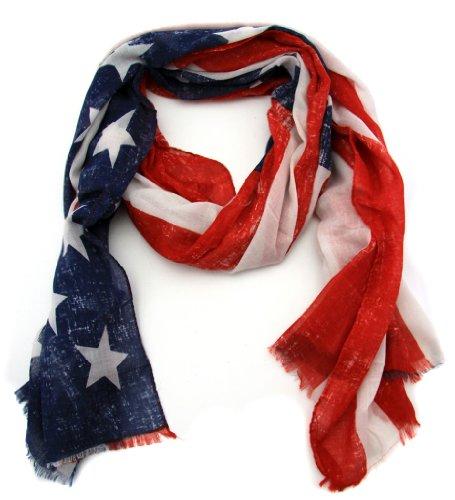 XXL Schal Tuch in USA Flage Design America Fan Style XXL Halstuch