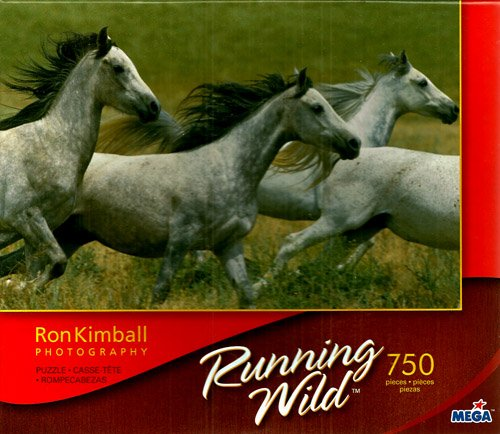 Ron Kimball Photography Running Wild 4 Horse 750 Piece Puzzle