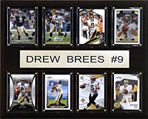 NFL Drew Brees New Orleans Saints 8 Card Plaque by C&I Collectables