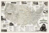 Railroad Legacy Map of the United States [Boxed] (National Geographic: Reference Map)