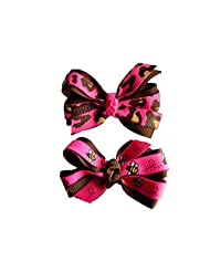 Bugs And Paws Pink Baby Girl Hair Clips Bow Hair Clips Toddler Hair Clip Hair Accessories For Girls