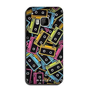 Mozine Record Lover printed mobile back cover for HTC one m9