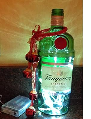 Tanqueray Gin Upcycled Bottle Light-White LED