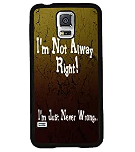 Fuson 2D Printed Quotes Designer back case cover for Samsung Galaxy S5 Mini - D4538