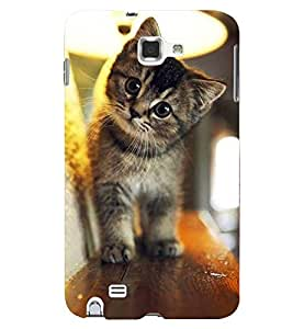Printvisa Kitten On A Shelf Back Case Cover for Samsung Galaxy Note i9220