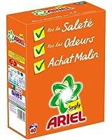 Ariel Simply Lessive en Poudre Régulier 40 Doses 2,6 L