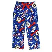 christmas-frosty-the-snowman-plush-fleece-sleep-pants