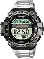 Casio - SGW-300HD-1A - Sports - Montre Homme - Quartz Digital - Cadran LCD - Bracelet Acier Gris