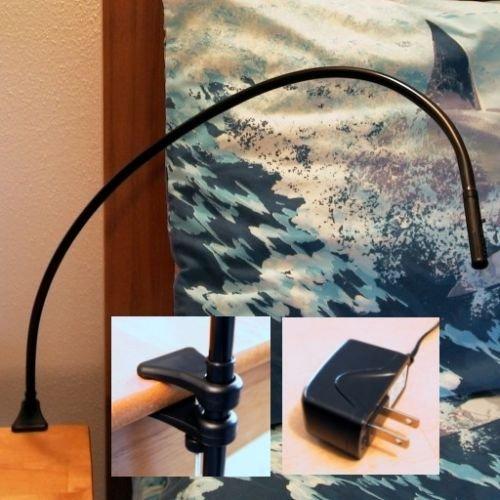 Juraf Bedside Reading Light - Bendable Led Bed Lamp -120 Vac - Elegant Styling