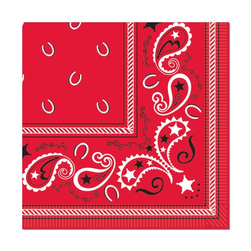 Cowboy Bandana Beverage Napkins : package of 16 - 1