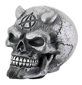 Chrome Devil Satin Skeleton SKull Car Shifter Shift Knob