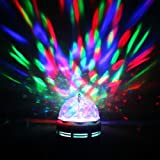 New Big Size LED Full Color 360 Degree Rotating Crystal Lamp For Party Diwali New Year Dance And Disco With Indian...