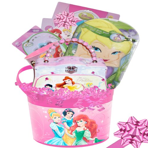 Lil Princess Girl's Disney Princess Deluxe Gift Basket with Princess Purse - 1