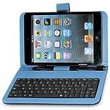 """Funda Case con Teclado Soporte para Tablet 7"""" Micro USB Color Azul"""