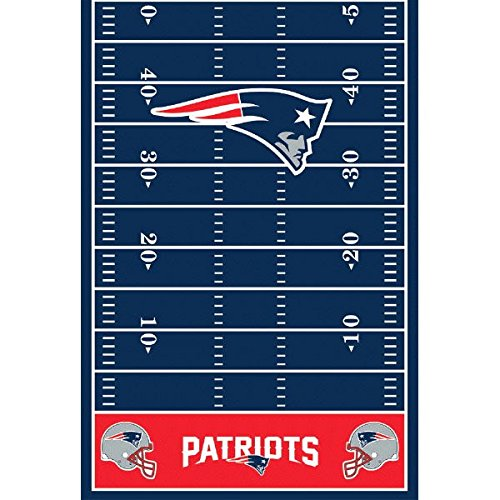 DesignWare New England Patriots Plastic Table Cover, 54 by 102