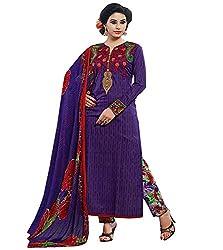 Lakshmi Fashion Creation Women's Cotton Dress Material ( Purple )